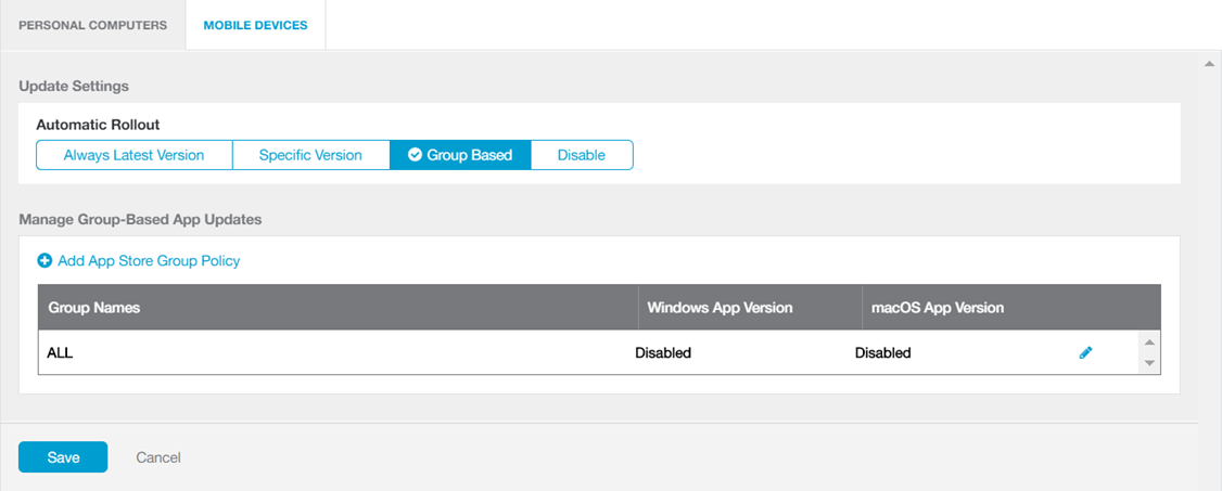 Configuring Update Settings for Zscaler App | Zscaler