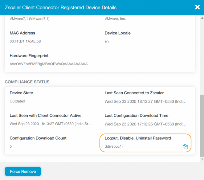 About One-Time Passwords for Enrolled Devices | Zscaler