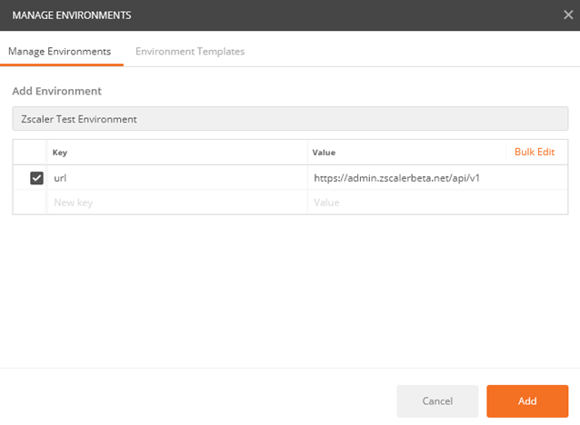 Add Environment and URL Set Key-Value for API in Postman