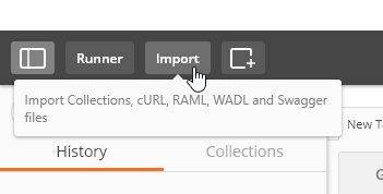 Import Button in Postman Client