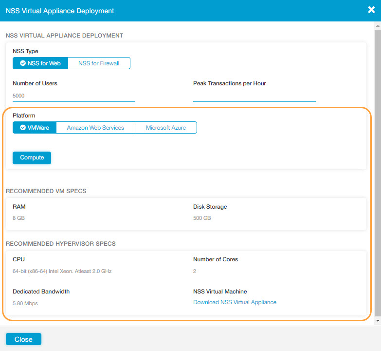 Deploying NSS Virtual Appliances | Zscaler