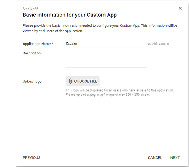 Screenshot showing how to fill in basic information about your app