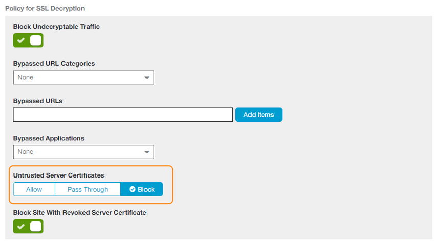 What does Zscaler consider an untrusted server certificate? | Zscaler