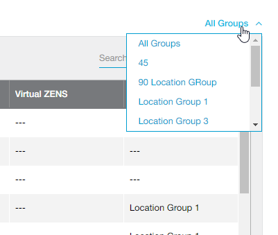 Location Groups Filter on Locations Page