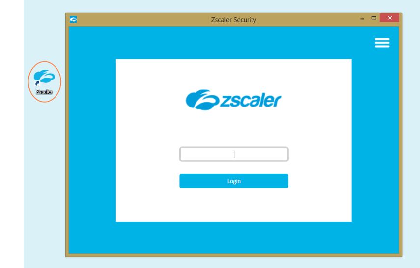 Screenshot of the Zscaler App and the desktop shortcut