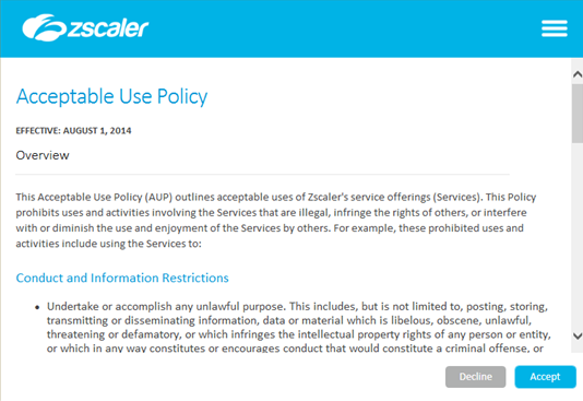 Enrolling With The Zscaler Service On The Zscaler App