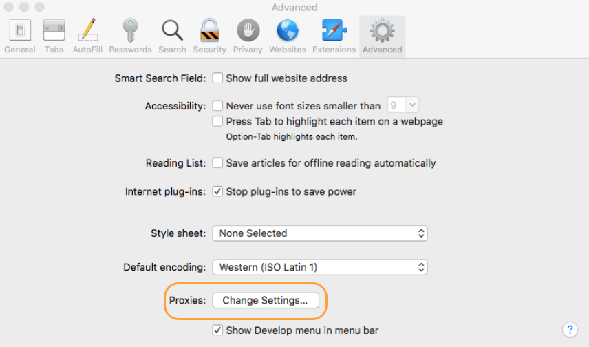 Configuring Safari to Use PAC File | Zscaler