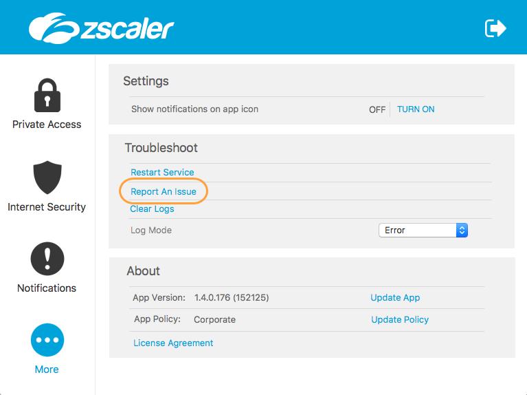 Zscaler App Password